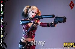 1/6 BBK BBK011 Arkham City Female Joker 12'' Figure WithWeapon Toys Seamless Body