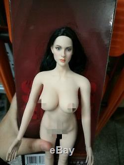 1/6 Pale Black Hair Head Sculpt & PH S04B Body 12'' Female Figure Set Model Toy