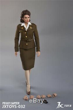 1/6 Peggy Carter Female Action Figure Captain America Collection JXTOYS 032