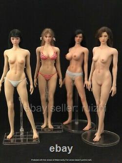 1/6 Silicone Seamless Female Figure Doll Suntan for Hottoys TBLeague US Seller