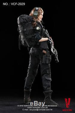 1/6 Very Cool Toys VCF-2029 Female Soldier Shooter Black Version Action Figure