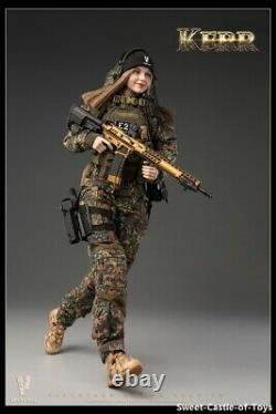 1/6 VeryCool Female Action Figure Flecktarn Women Soldier Kerr VCF-2050 In Stock