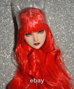 16 Red Hair Head Sculpt Fit 12 Female Obitsu PH HT UD Action Figure MOdel toys