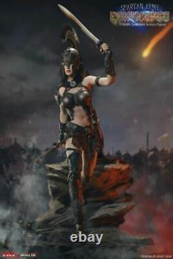 16 TBLeague PL2020-165A Spartan Black Army Commander Female Soldier Figure Toy