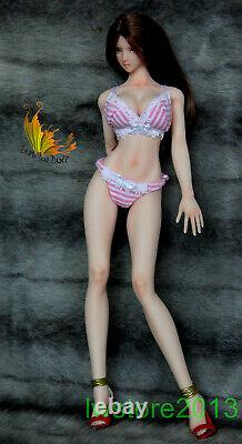 16 UD 3.0 Pale Skin Large Breast Bust with Genitals Phicen Female Figure Body Toy