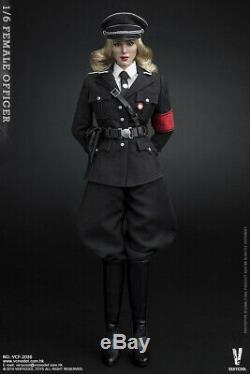 16 VERYCOOL VCF-2036 Female Officer Black Uniform 12'' Action Figure Doll