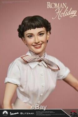 Blitzway 1/4 Scale Audrey Hepburn Princess Ann With Vespa Scooter Figure Set
