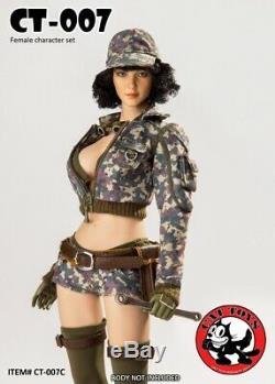 CAT TOYS 1/6 CT007-C Cindy Aurum Female Clothes Suit with Head F 12 PH Figure Toy
