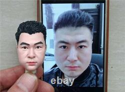 Customize 16 Head Sculpt Carved PVC Hair For 12 Female Male Action Figure Body