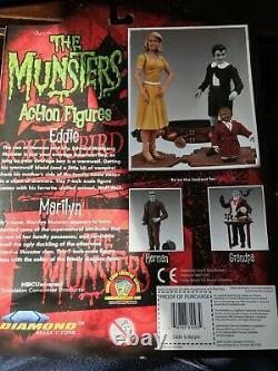 Diamond Select Munsters Marilyn & Eddie Munster Figures- Unopened