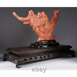 Exceptional Large Chinese Carved Coral Figural Group Statue of Female Immortals