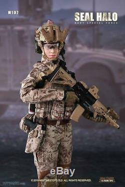 Female US Seal Halo Navy Special Force 1/6 Scale Figure Mini Times Toys M017 USA