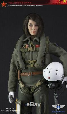 Flagset 1/6 Scale 12 Chinese PLA Airforce Female Aviator Action Figure 73006