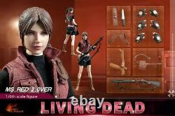 Hot Heart 1/6 Zombie Female Killer Ms. Red Claire 2.0 Body Clothes Toy 12 Figure