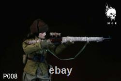 MOETOYS 1/6 P008 Soviet Snow Assault Sniper Female Officer Soldier Figure Doll