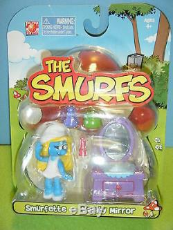Smurfette's Pink Mushroom House, Pink Car & 3 Smurf Figure Packs New