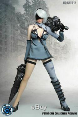Super Duck 1/6 NieRAutomata 2B Clothing Suit SET017 F 12 Female Action Figure
