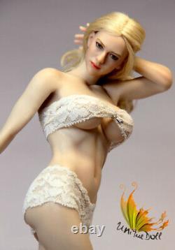 Unique Doll 1/6 Female Pale Large Bust Body Model Flexible 12 Figure Action Toy