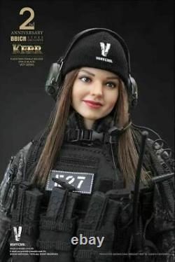 VERYCOOL 16 VCF-2050 Black Flecktarn Woman Soldier Kerr 12 Female Figure